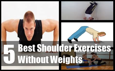 5 best shoulder exercises without weights top shoulder
