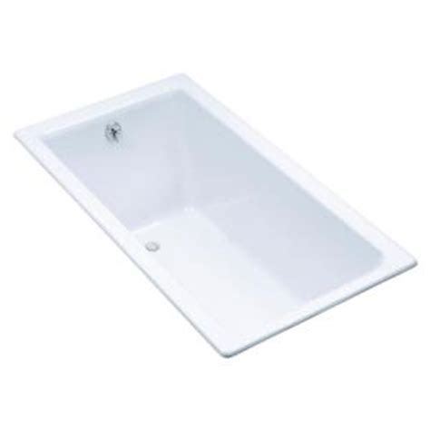 kohler kathryn 5 5 ft reversible drain drop in cast iron