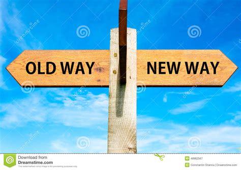 way way old way and new way signs stock illustration illustration
