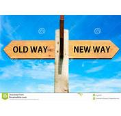 Old Way And New Signs Stock Illustration  Image 48962567