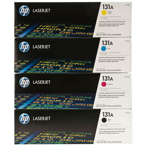 Toner Hp 131a Black Color hp genuine 131a series toner set one black and three