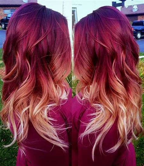 ombre hair technique blonde with red ends quot red blonde ombre hair quot hair pinterest red blonde