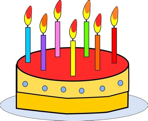 Free Birthday Clip Birthday Cake by Birthday Cake Clip Free Vector In Open Office Drawing