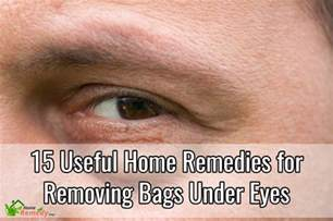 15 useful home remedies for removing bags