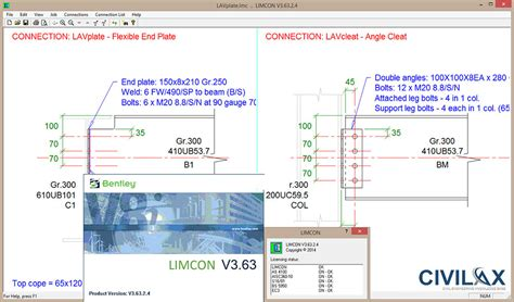 Bentley Limcon 03 63 Structural Steel Connection Design Software bentley limcon 03 63 02 04 civil engineering community