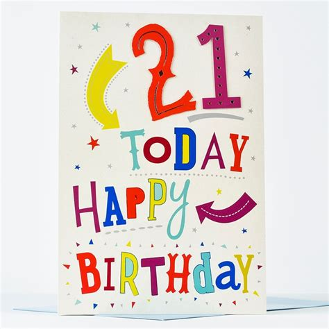 21st Birthday Card Giant 21st Birthday Card 21 Today Only 99p