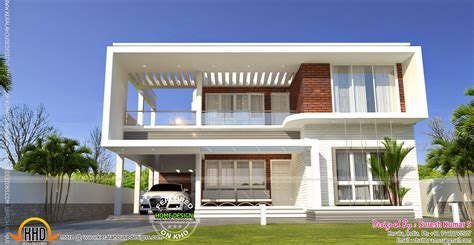 4bhk house contemporary home with isometric plan kerala home design