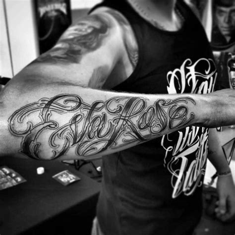 rose tattoo font on forearm best ideas gallery