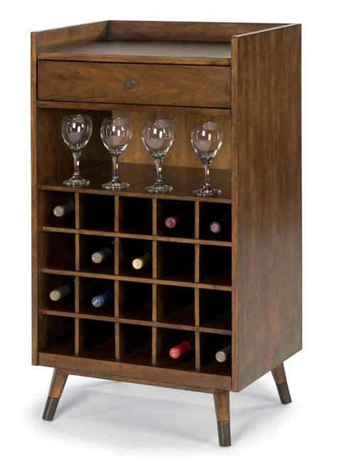 gemini mid century modern wine rack  bar accessory