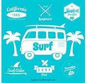Surf Badges Vector  Free Download