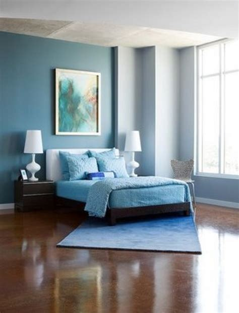 Blue Bedroom Colors | modern cute blue and brown bedroom interior decoration