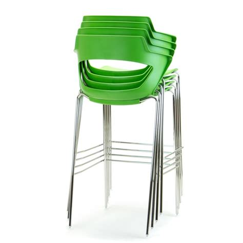 Zen Bar Stools by Zen 4 Leg High Bar Stool