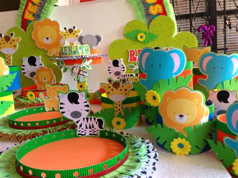 decoracion cumpleanos infantiles decoraciones infantiles animalitos de la selva cumple