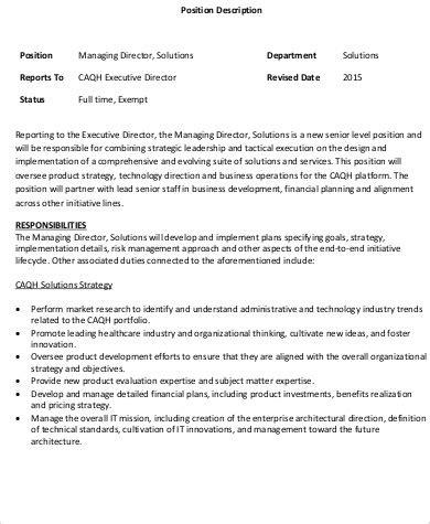sales director description 9 managing director description sles sle