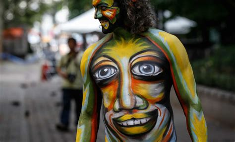 nudists advocate   adults  opt  body paint