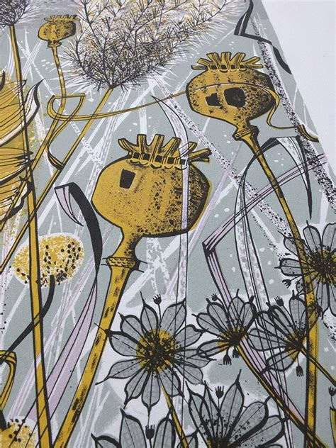 angie lewin plants and 1858945364 autumn garden norfolk angie lewin screen print st jude s prints