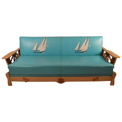 nautical couches funky nautical theme sofa bed at 1stdibs