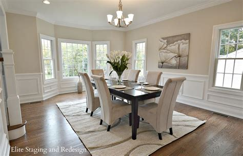 dining room wainscoting pictures contemporary dining room with wainscoting by elite staging