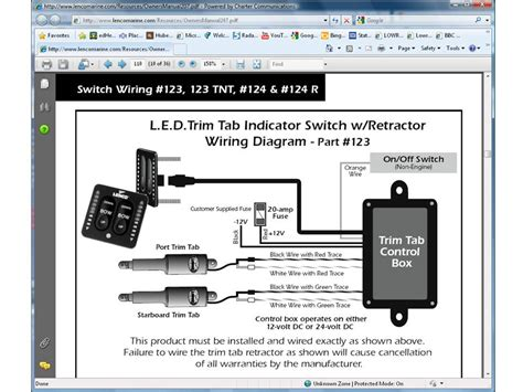 trim tab rocker switch wiring diagram marine