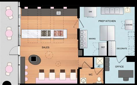 floor plan for bakery shop hello cupcake bonstra haresign architects
