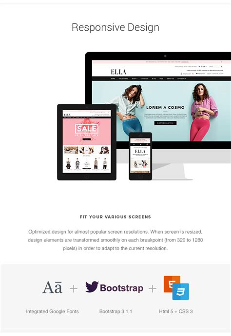 3dcart Templates For Sale by Ella Responsive 3dcart Template By Halothemes Themeforest