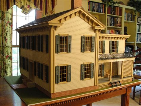 amazing doll house amazing customized lincoln springfield home dollhouse kit