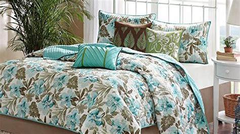 turquoise tropical palm leaf house theme