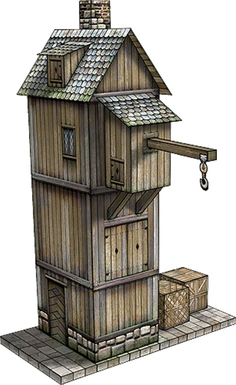 crane house crane house of rake s corner paper model dave s games