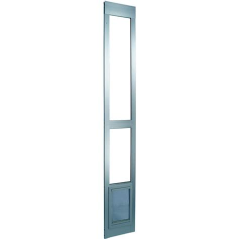 Ideal Patio Pet Door Ideal Modular Aluminum Patio Pet Door Mill Finish Small Walmart