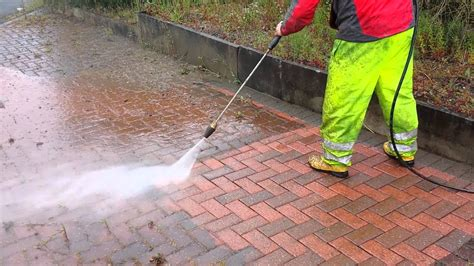 how to clean a patio with a pressure washer block paving cleaning 400 bar turbo nozzle