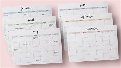 Galerry printable planner july 2018