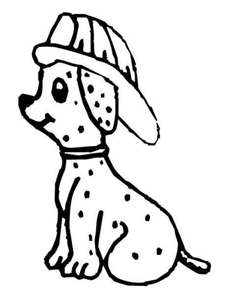 Fire Dog Holding Fire Hose Coloring Pages Kids Play Color Sparky The Coloring Pages