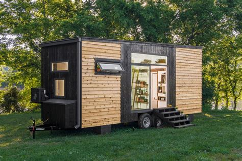 tiny house images tiny home clad in burnt wood packs a ton of luxury into