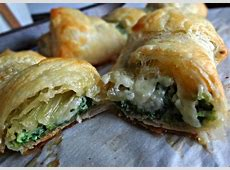 The Cooking Actress: Spinach & Brie Puff Pastries Meat Spinach Cheese Pastry