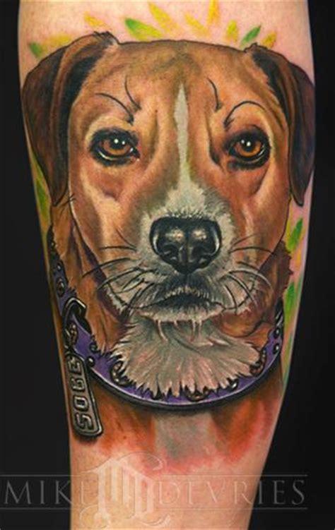 animal tattoo dog mike devries tattoos animal dog portrait