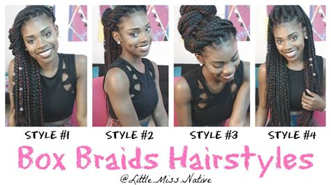 hairstyles for school with box braids box braids hairstyles youtube