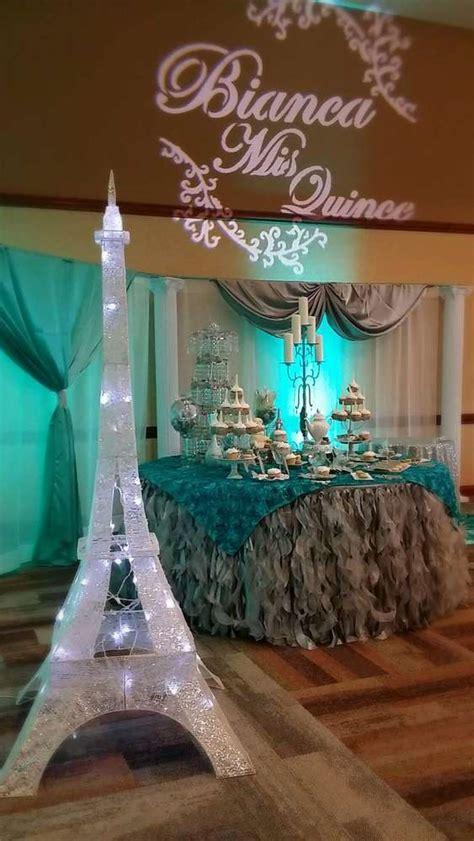 quinceanera themed birthday party french parisian quincea 241 era party ideas photo 10 of 15