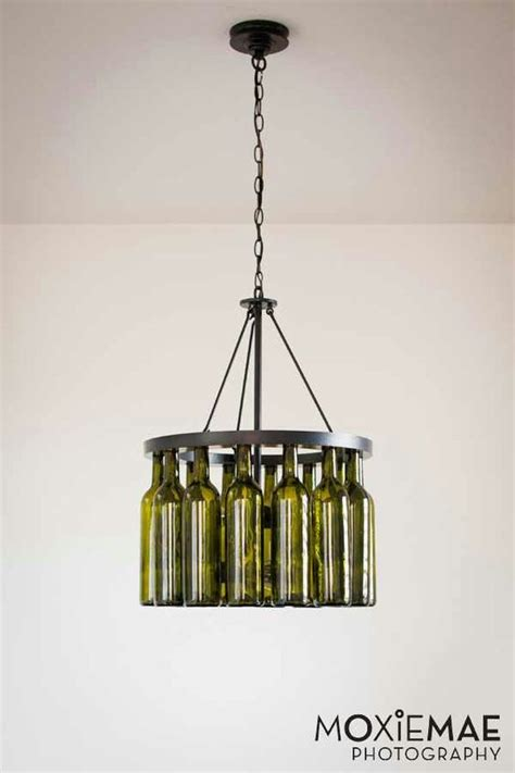 Diy Wine Bottle Chandelier Crafts Pinterest Bottle Bottle Chandelier Diy