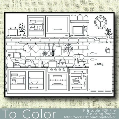 printable kitchen coloring page  adults  jpg