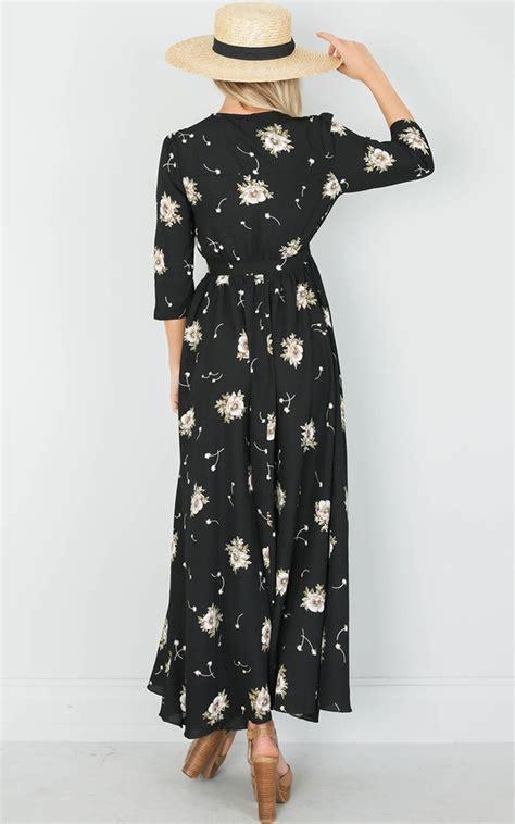 Maxi Dress Liliana liliana maxi dress in black floral showpo nz