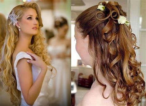 long hairstyles for bridal party looking stunning with long wedding hairstyles with flowers