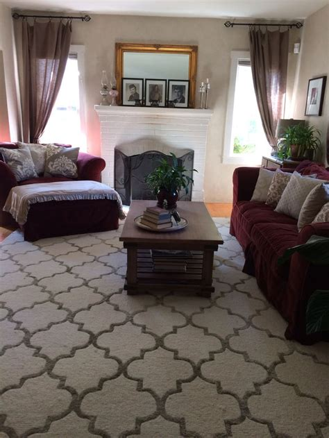 rugs to make room look bigger pin by meech