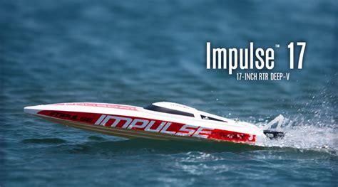 rc boat impulse pro boat impulse 17 inch 2 4 deep v hull rc boat horizon