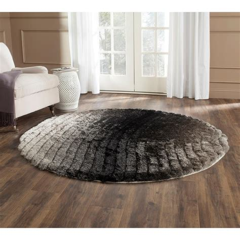 rugs 6 ft safavieh 3d shag silver 6 ft x 6 ft area rug sg552c 6r the home depot