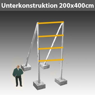 Bauschild Preise by Unterkonstruktion F 252 R Schild 1 1 B200 X H400cm Ges H600cm