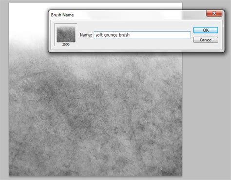how to create a soft grunge photoshop brush