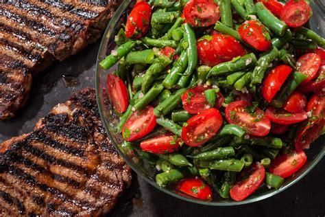 asparagus green bean and wax bean salad recipe dishmaps