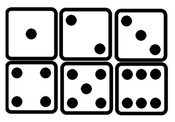 printable dice faces photos of dice clipart best