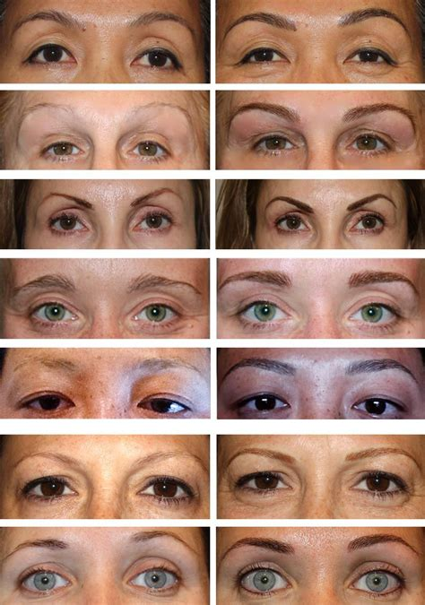 tattooed eyebrows before and after before after permanent eyebrows permanent makeup