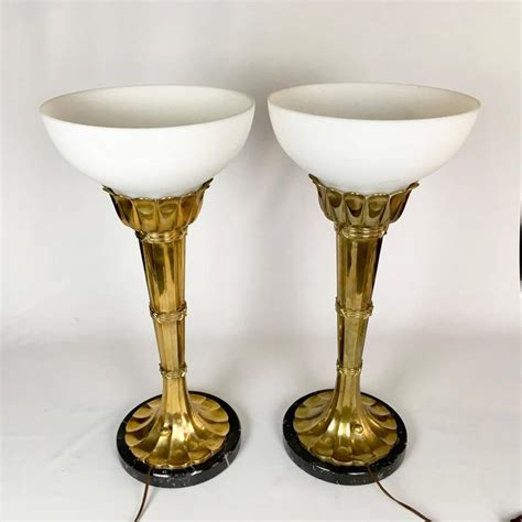 Torchiere Table L Pair Of Large Brass Torchiere Table Ls By Chapman For Sale At 1stdibs